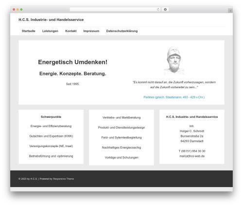 Responsive theme WordPress - hcs-web.de