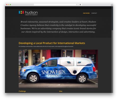 Salient best WordPress template - hudsoncreates.ca
