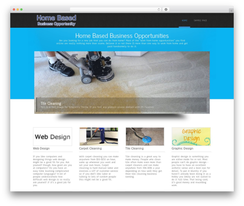 Simplicity Lite free WordPress theme - home-based-business-opportunity.com
