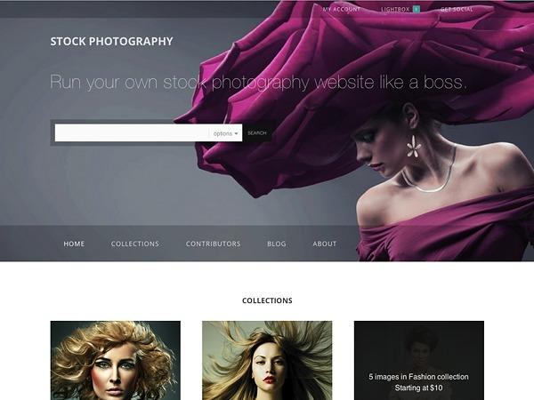 Stock Photography Child WordPress template for photographers