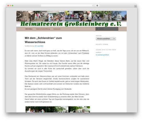 Free WordPress Twenty Eleven Theme Extensions plugin - hv-steinberg.de