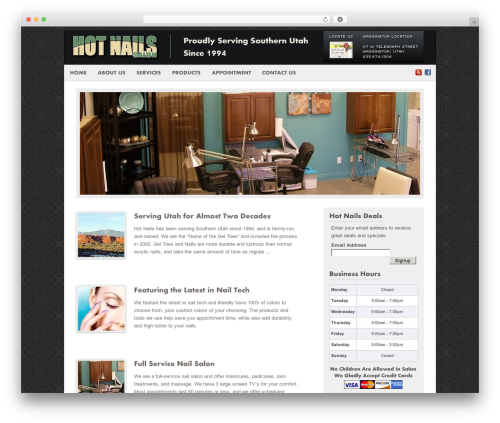WordPress template Fresh And Clean - hotnailssalon.com