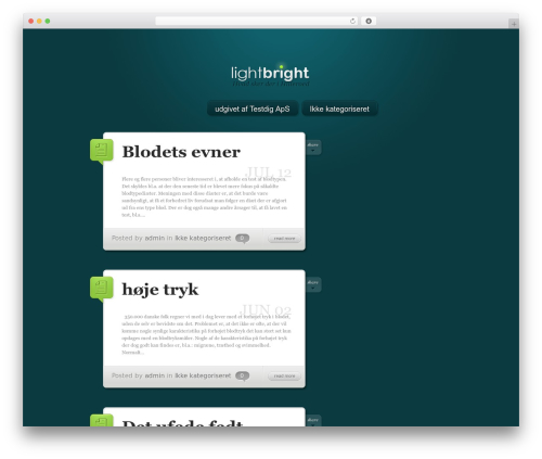 WordPress template LightBright - hilleroed-hk.dk