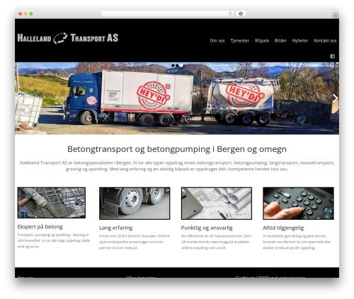 WordPress website template Celestial - hallelandtransport.no