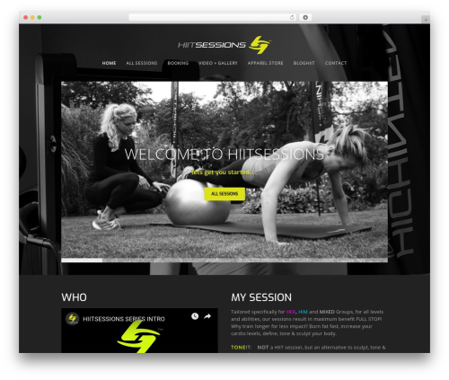 Workout WordPress template for business - hiitsessions.com