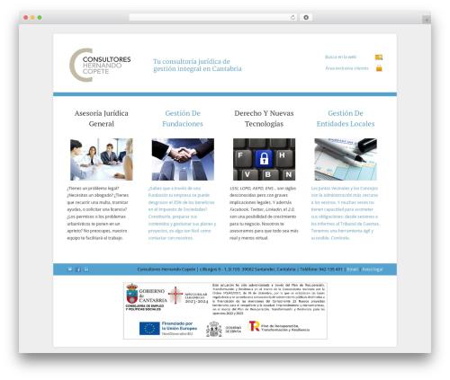 WP template Cleaner WordPress Theme - hernandocopete.es