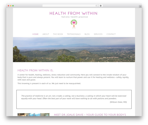Beaver Builder Theme WordPress page template - healthfromwithin.org