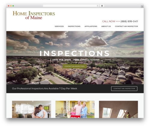 Best WordPress template Construction - homeinspectorsofmaine.com