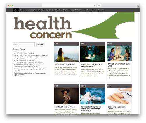 Codium Grid best free WordPress theme - health-concerns.org