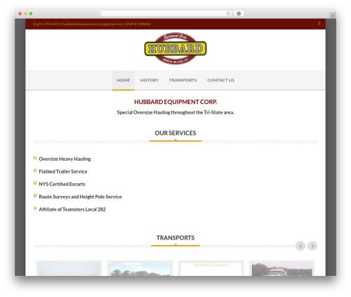 Delicate template WordPress - hubbardequipment.com