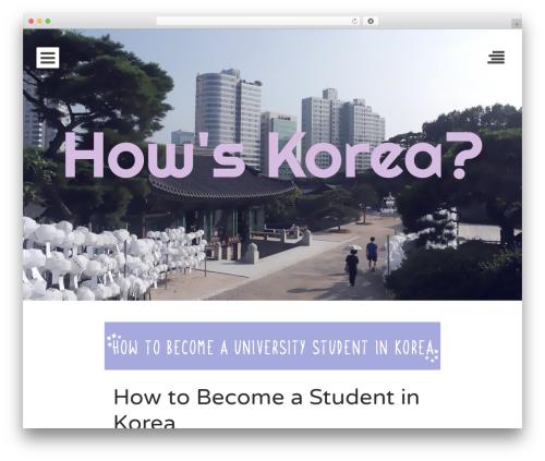 Eighties free website theme - howskorea.com