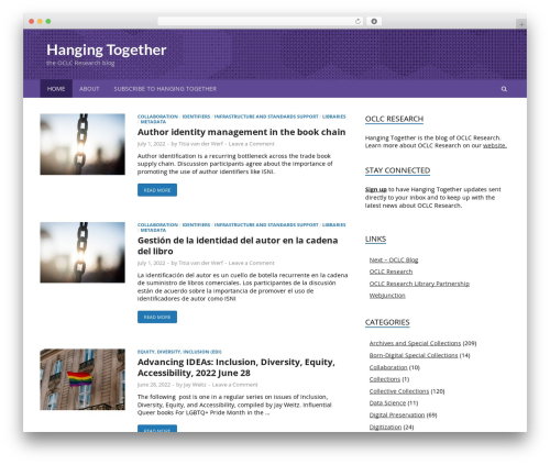 HitMag Pro template WordPress - hangingtogether.org