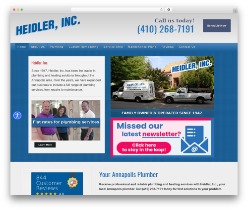 Legacy WordPress website template - heidlerplumbing.com