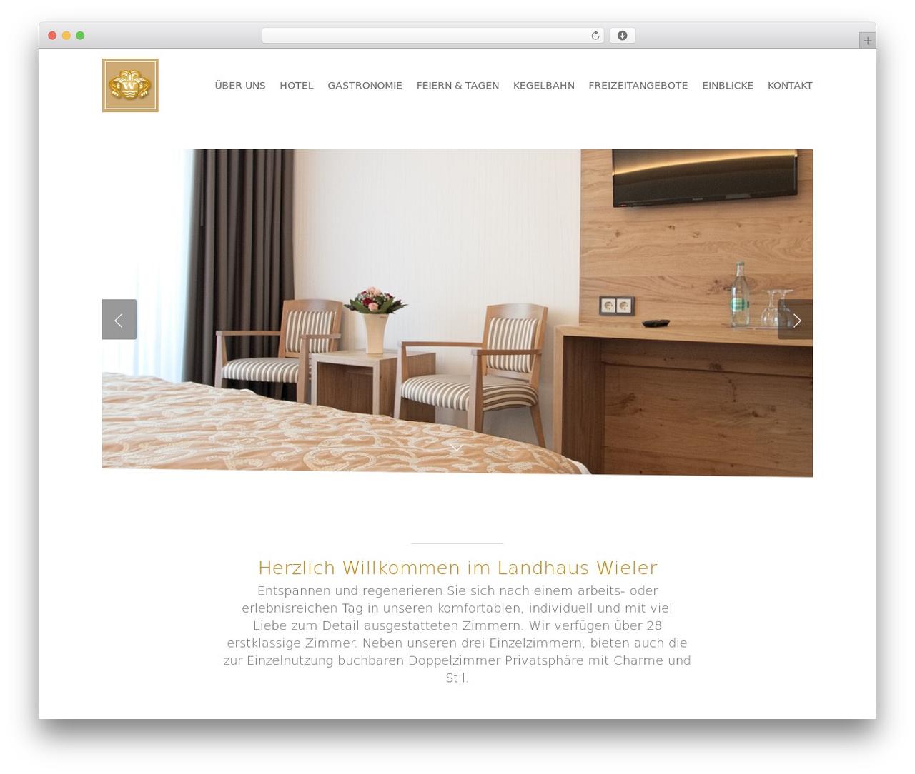 Salient WordPress page template - hotelwieler.de