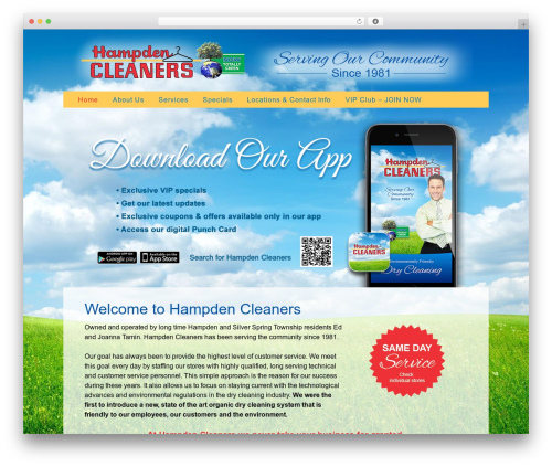 Twenty Thirteen free WordPress theme - hampdencleaners.com
