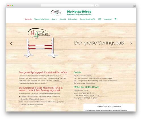 WordPress theme Divi - hettahuerde.de