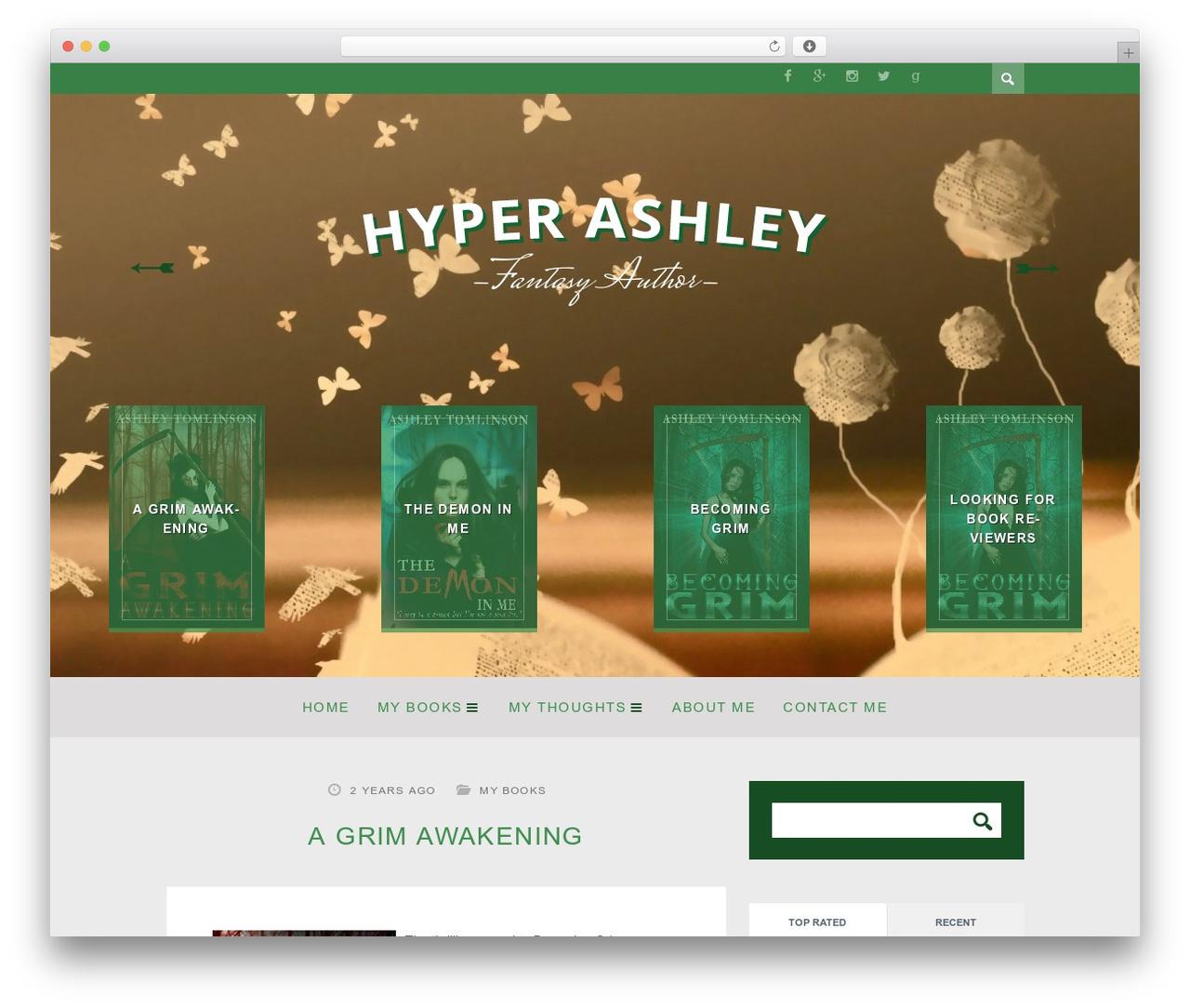WordPress theme ST Squirrel - hyperashley.com