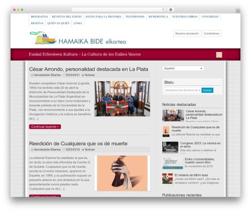 WP-Brilliance WordPress theme - hamaikabide.eus
