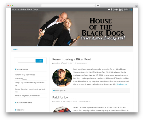 ZeroGravity WordPress theme download - houseoftheblackdogs.com