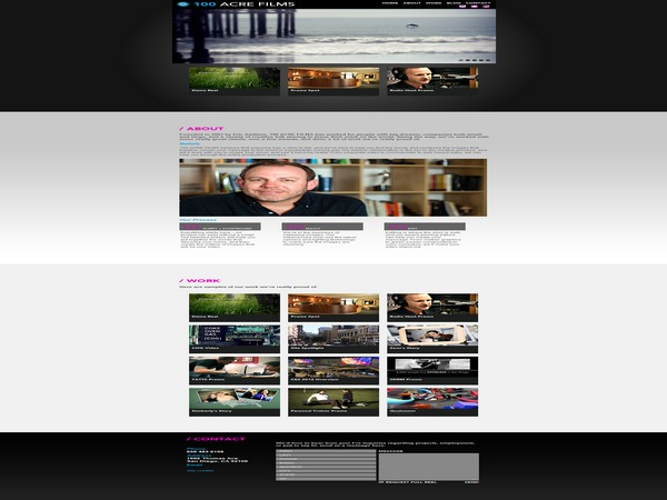 100acrefilms template WordPress