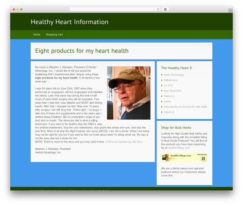 Best WordPress template Modular - healthyheartinformation.com