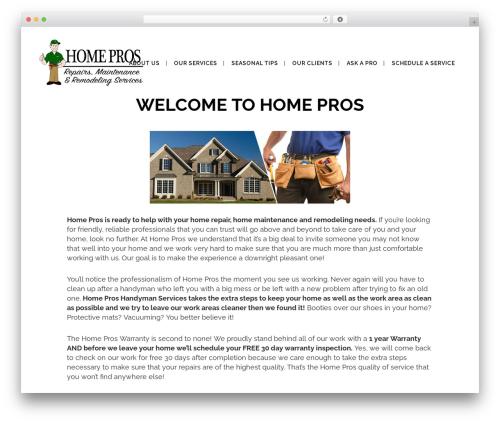Bridge WordPress theme - homeprosontheweb.com