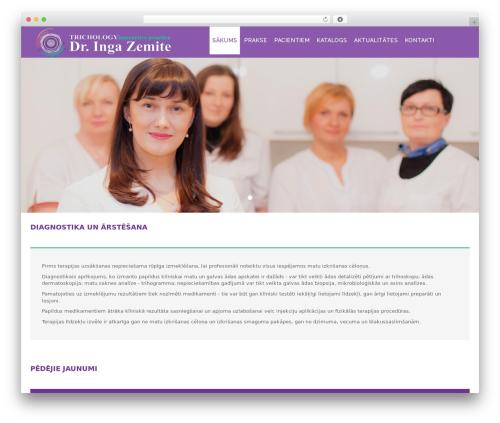 HealthCare template WordPress free - hairandscalptreatment.eu