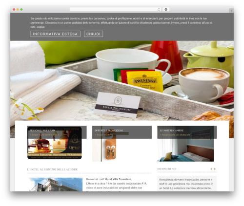 Hotec business WordPress theme - hotelvillatruentum.com