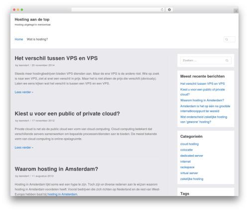 neve theme WordPress - hosting.aandetop.nl