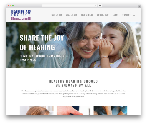 WordPress template Bridge - hearingaiddonations.org