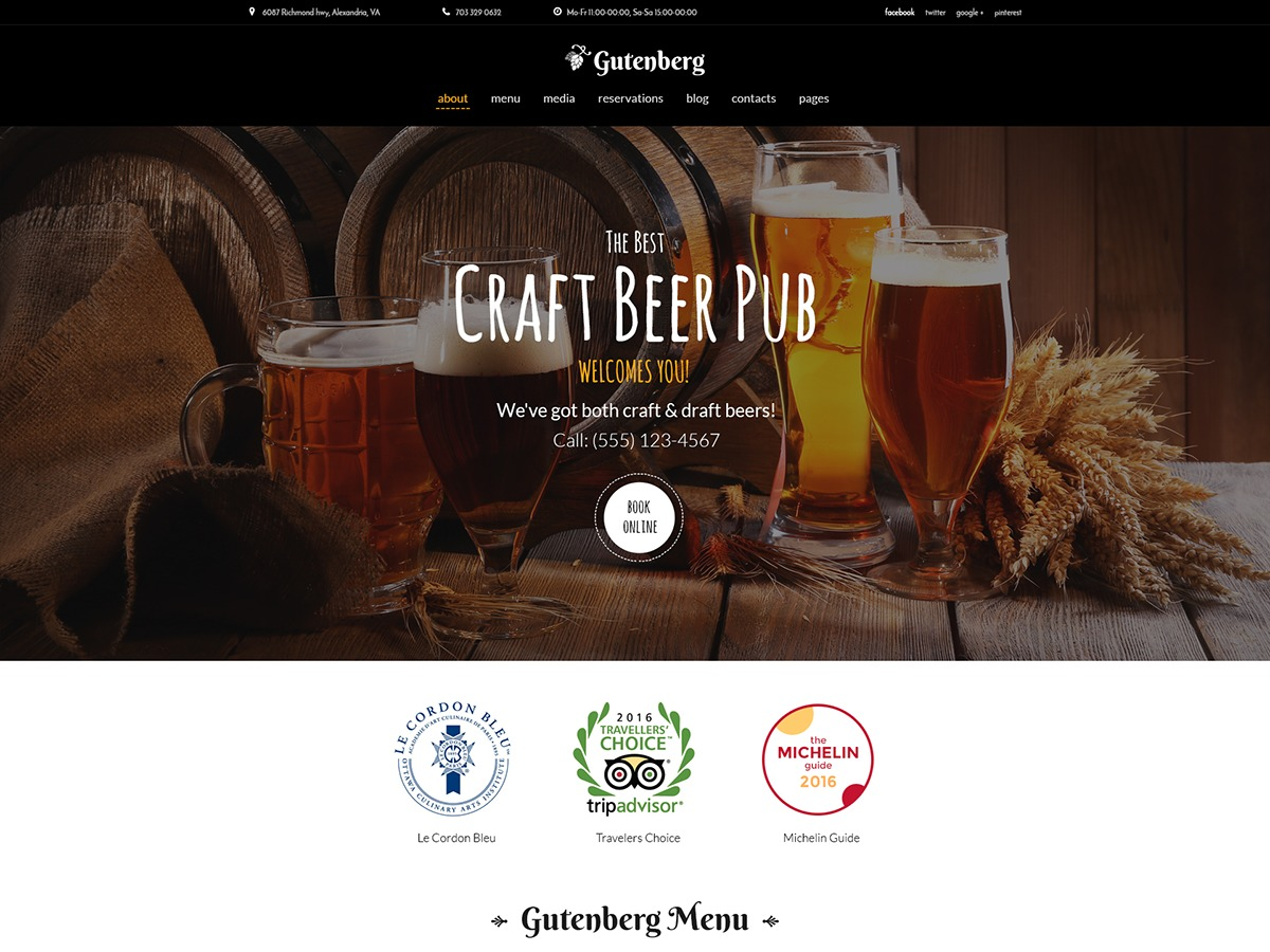 WordPress template Gutenberg