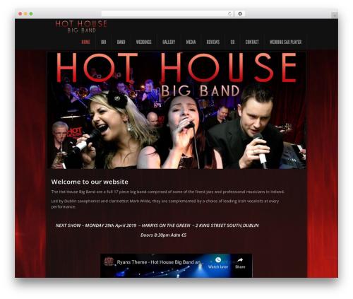 WordPress theme Feather - hothousebigband.com
