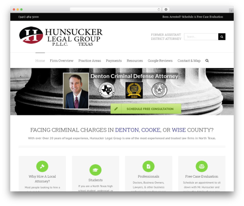 Avada WordPress website template - hunsuckerlegalgroup.com