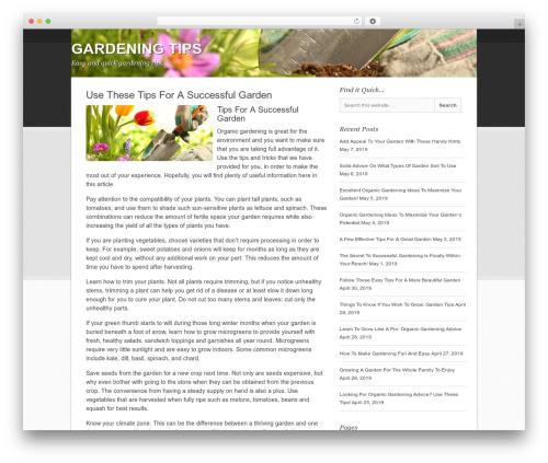 Backcountry Child Theme garden WordPress theme - howtogardeningtips.com