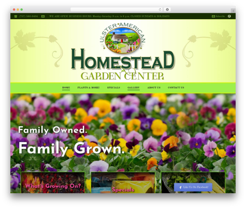 Best WordPress template Jupiter - homesteadgardencenter.com
