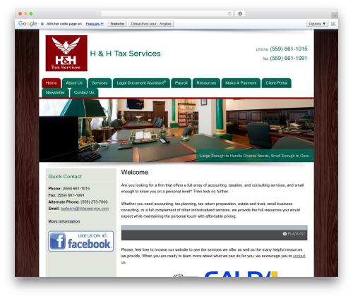 Customized business WordPress theme - hhtaxservice.com