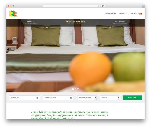 Leisure best hotel WordPress theme - hotelkerber.me