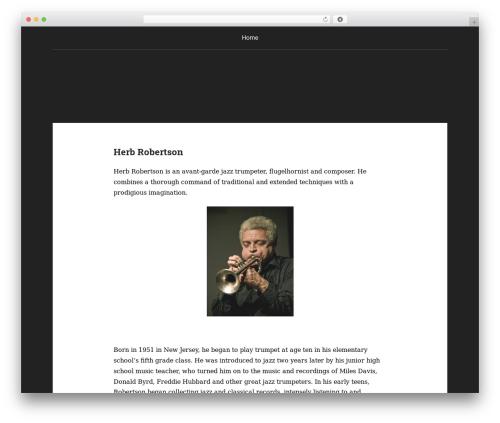 Padhang template WordPress - herbrobertson.com