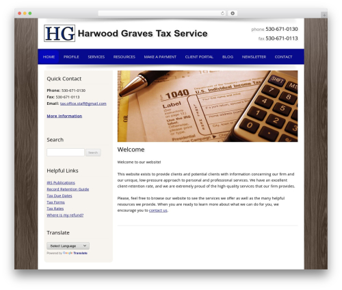 Theme WordPress Customized - harwoodgravestax.com