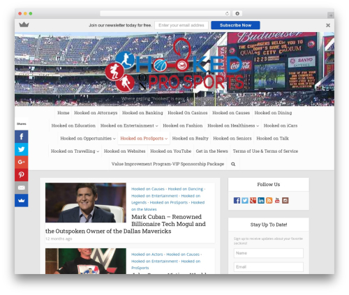 Free WordPress Media Credit plugin - hookedoneverything.com/category/hooked-on-pro-sports