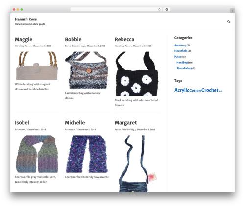 Theme WordPress neve - hannah-rose.com