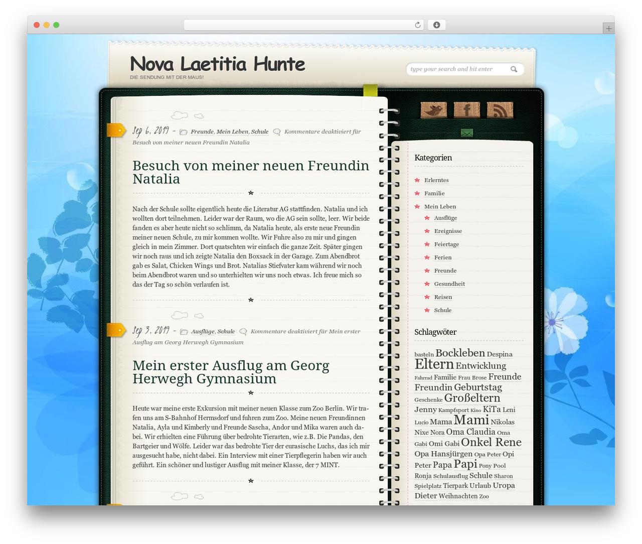 Wordpress Template Diary Notebook By Site5 Com Hunte Eu