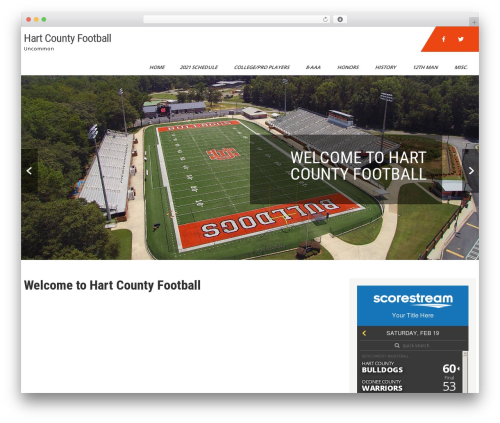 WordPress theme Sports Club Lite - hartcountyfootball.com