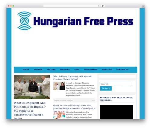 WordPress theme Tribune Theme - hungarianfreepress.com