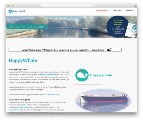 WordPress website template Backer - happy-capital.nl