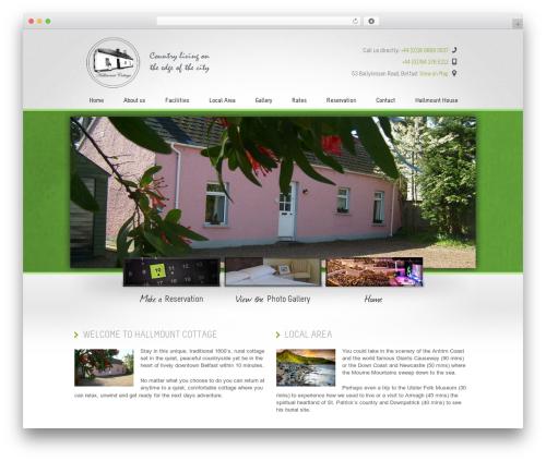 WordPress website template Welcome Inn - hallmountcottage.com