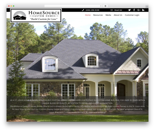 Best WordPress template Themify Ultra - homesourcecustomhomes.com