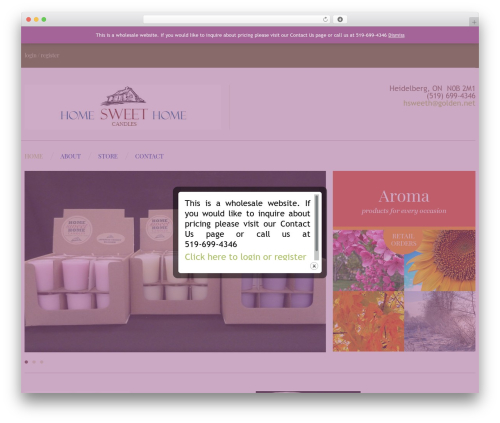 cherry theme WordPress - homesweethomecandles.ca