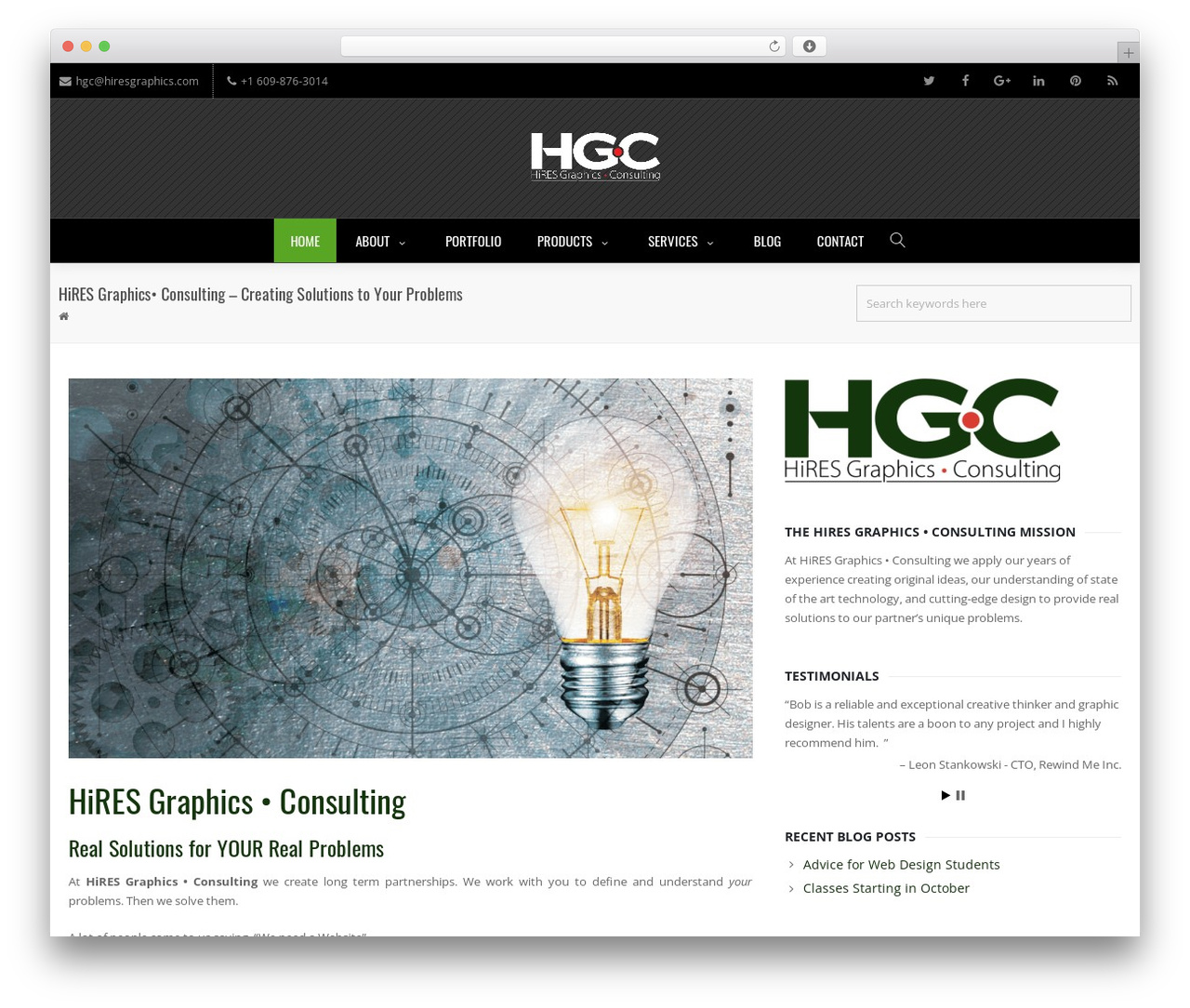 Creativo Theme company WordPress theme - hiresgraphics.com