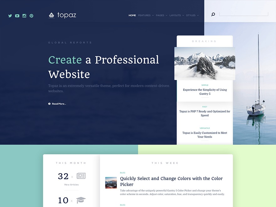 Theme WordPress Topaz
